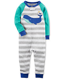 Carter's Whale Striped Cotton Pajamas, Baby Boys