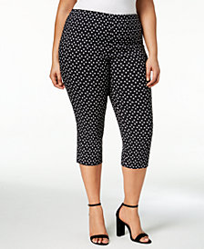 Charter Club Plus Size Printed Capri Pants, Created for Macy's
