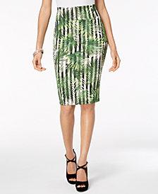 Thalia Sodi Printed Scuba Pencil Skirt, Created for Macy's