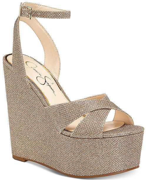 ecd21deb41c Jessica Simpson Prena Platform Wedge Evening Sandals & Reviews ...