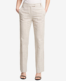 DKNY Striped Bootcut Pants, Created for Macy's
