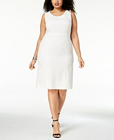 Plus Size Crepe Sheath Dress