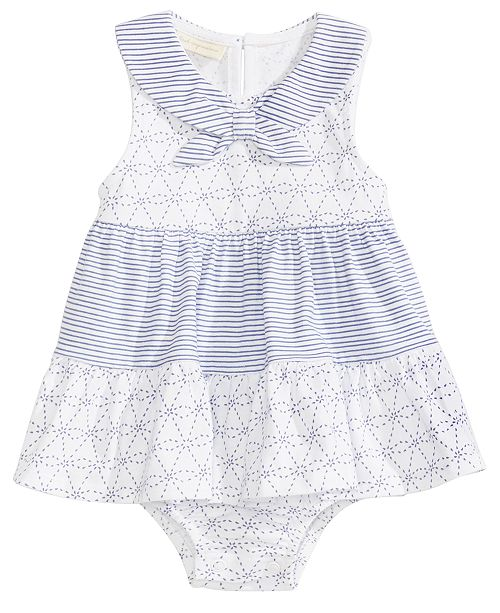 First Impressions Nautical Cotton Skirted Romper, Baby Girls, Created for Macy's