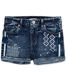 Levi's® Embroidered Shorty Short, Big Girls