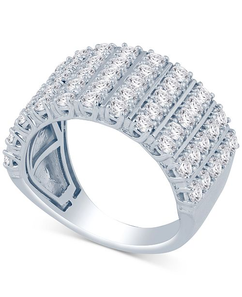 Macy's Diamond Five-Row Cluster Ring (2 ct. t.w.) in 14k Gold or White Gold