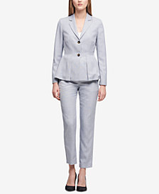 DKNY Peplum Blazer & Skinny Pants, Created for Macy's