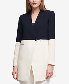 DKNY Colorblocked Topper Jacket, Created for Macy's