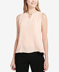 Calvin Klein Pleated-Back Top