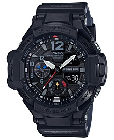 Men's Analog-Digital Gravity Master Black Resin Strap Watch 52mm