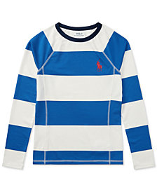 Polo Ralph Lauren Striped Rash Guard, Big Boys