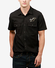 Lucky Brand Men's Fender Embroidered Shirt