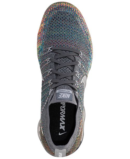 designer fashion 3c2b1 4154f Nike Men's Air VaporMax Flyknit Running Sneakers from Finish ...