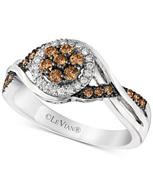 Le Vian Chocolatier® Diamond Halo Ring (3/8 ct. t.w.) in 14k White Gold