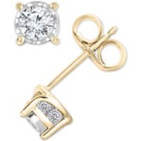 TruMiracle Diamond Stud Earrings (1/2 ct. t.w.) in 14k Gold Deals