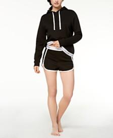 Calvin Klein Logo-Trim Hoodie & Shorts