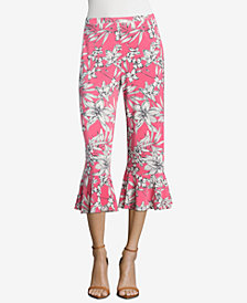 ECI Printed Ruffled Pants