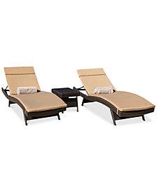 Malibu Outdoor 3-Pc. Lounge Set, Quick Ship