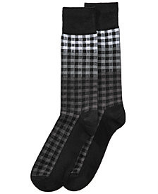 Perry Ellis Men's Superior Soft Plaid Dress Socks
