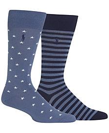 Polo Ralph Lauren Men's 2-Pk. Stars & Stripes Socks
