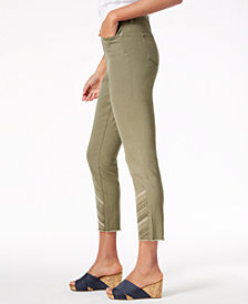 Style & Co Embroidered Raw-Hem Jeans, Created for Macy's