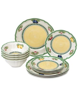 French Garden 12-Pc. Dinnerware Set Service for 4 Created for Macy\u0027s  sc 1 st  Macy\u0027s : dinnerware service for 12 - pezcame.com