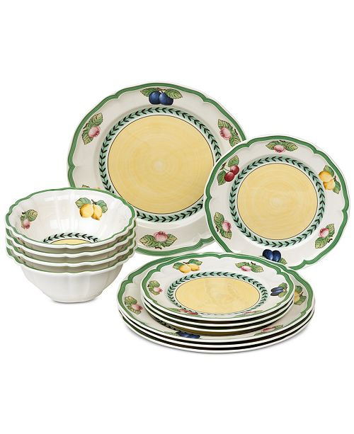Villeroy & Boch French Garden 12-Pc. Dinnerware Set, Service for 4, Created for Macy's