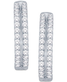 Diamond Two-Row Hoop Earrings (1 ct. t.w.) in 14k Gold or White Gold