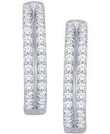 Diamond Two-Row Hoop Earrings (1 ct. t.w.) in 14k Gold or White Gold