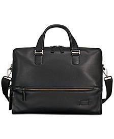 Men's Harrison Horton Double-Zip Leather Briefcase