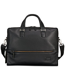 Tumi Men's Harrison Horton Double-Zip Leather Briefcase