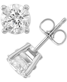 Macy's Star Signature Diamond Stud Earrings (3 ct. t.w.) in 14k Gold or White Gold