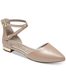 Rockport Women's Adelyn Ankle-Strap Flats