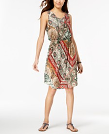 Style & Co Sleeveless Printed Dress, Created for Macy's