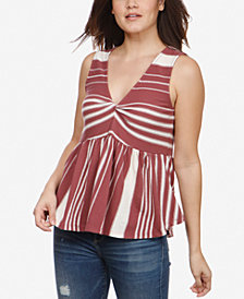 Lucky Brand Sleeveless Striped Cotton Top