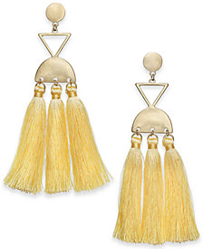 I.N.C. Gold-Tone Multi-Tassel Chandelier Earrings, Created for Macy's