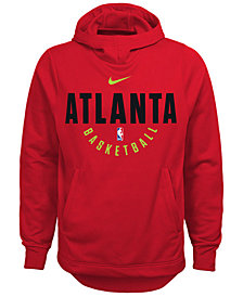 Nike Atlanta Hawks Elite Practice Hoodie, Big Boys (8-20)