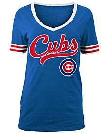 Women's Chicago Cubs Retro V-Neck T-Shirt