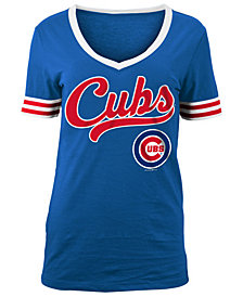 5th & Ocean Women's Chicago Cubs Retro V-Neck T-Shirt