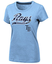 G-III Sports Women's Tampa Bay Rays Script Foil T-Shirt