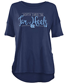 Royce Apparel Inc Women's North Carolina Tar Heels Hip Script Modal Crew T-Shirt