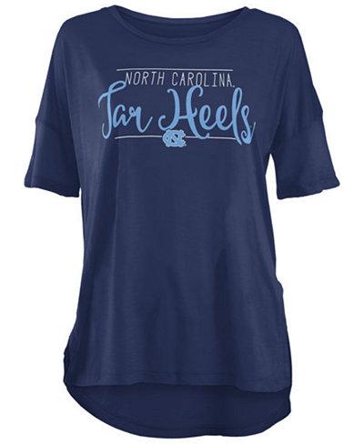 Royce Apparel Inc Women's North Carolina Tar Heels Hip Script Modal Crew T-Shirt
