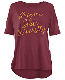 Royce Apparel Inc Women's Arizona State Sun Devils Riley Script Modal Crew T-Shirt