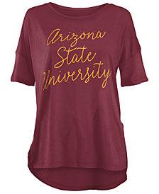 Royce Apparel Inc Women's Arizona State Sun Devils Riley Script Modal Crew T-Shirt