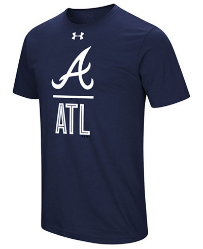 Under Armour Men's Atlanta Braves Performance Slash T-Shirt