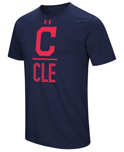 Under Armour Men's Cleveland Indians Performance Slash T-Shirt