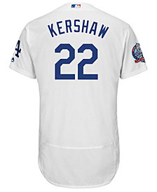 Majestic Men's Clayton Kershaw Los Angeles Dodgers Flexbase 60th Anniversary Patch Jersey
