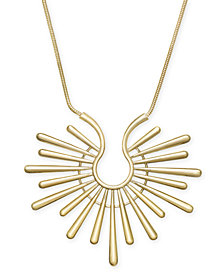 "Trina Turk x I.N.C. Gold-Tone Sunburst 16"" Pendant Necklace, Created for Macy's"
