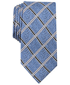 Nautica Men's Rohan Grid Slim Silk Tie