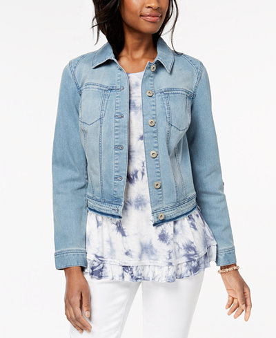 Style & Co Released Hem Denim Jacket, Created for Macy's