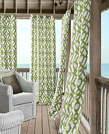 "Elrene Marin 50"" x 108"" Indoor/Outdoor Water-Repellent Grommet Curtain Panel with 50+ UV Protection"